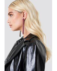 NA-KD - Colorful Hanging Rhinestone Earrings - Lyst