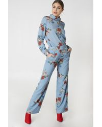 Gestuz - Natacha Trousers Light Blue Flower - Lyst