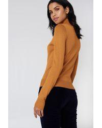 NA-KD - Polo Neck Glittery Sweater - Lyst