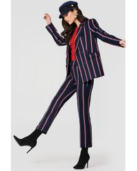 Mango - Straight Striped Trousers - Lyst