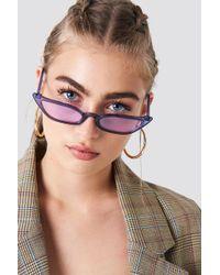 NA-KD - Pointy Edge Retro Sunglasses Purple - Lyst