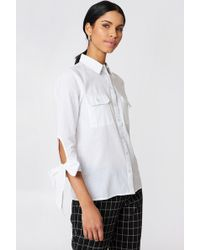 Rut&Circle - Nicole Pocket Shirt White - Lyst