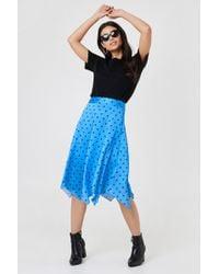 Trendyol - Dott Midi Skirt - Lyst