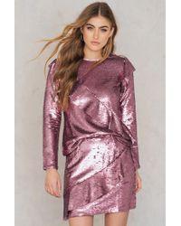 Glamorous - Frill Sequin Skirt - Lyst