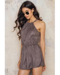 Toby Heart Ginger - Suede Candy Playsuit - Lyst