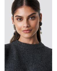 Mango - Dali Earrings Antracit - Lyst