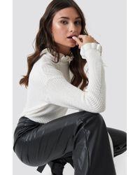 e7ebf10d934d Lyst - Ted Baker Ceilya Frill Roll Neck Sweater in White