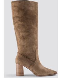 Mango - Campo Boots Olive - Lyst