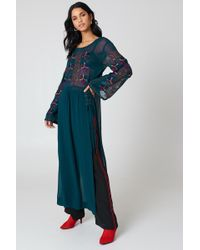 Free People - Floral Maxi Top Navy - Lyst
