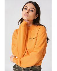 NA-KD - Cool Girl Sweatshirt Orange - Lyst