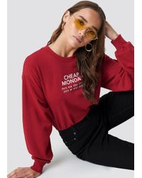 Cheap Monday - Get Sweater Dk Red - Lyst