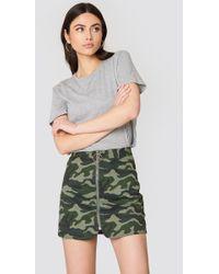 English Factory - Camo Zipper Skirt Camo - Lyst