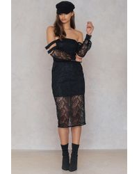 Lioness - Queen Of The Night Dress Black - Lyst