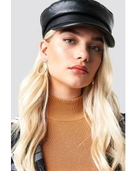 WOS - Leather Look Sailor Hat Black - Lyst