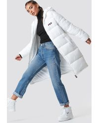 Fila - Zia Long Puff Jacket - Lyst