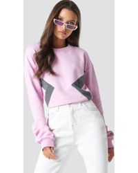 NA-KD - Blocked Side Sweatshirt Pink - Lyst