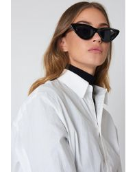 NA-KD - Pointy Cat Eye Sunglasses Black - Lyst