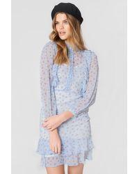 Endless Rose - Strappy Ruffle Print Dress - Lyst