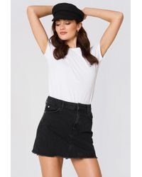 Mango - Frayed Edges Denim Skirt - Lyst