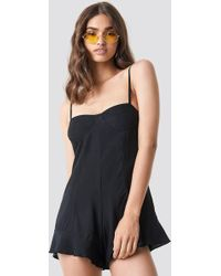 Motel Rocks - Berji Playsuit Black - Lyst