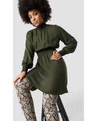 Trendyol - Tile Giped Dress Khaki - Lyst