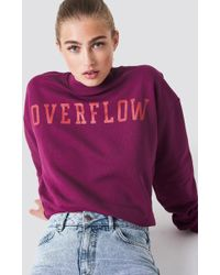 NA-KD - Overflow Sweatshirt Burgundy - Lyst
