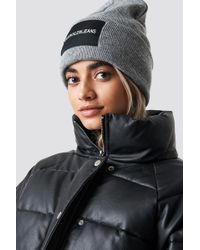 Calvin Klein - J Beanie W Mid Grey Heather - Lyst 3db261a9c23