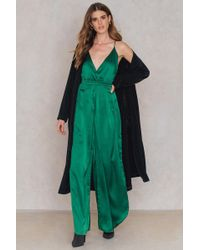 SHEIN - Pleated Culotte Jumpsuit - Lyst