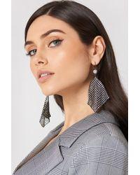 NA-KD - Hanging Rhinestone Mesh Earrings - Lyst