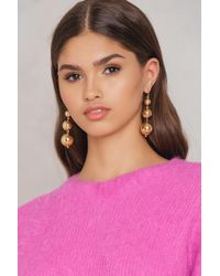 NA-KD - Small Globe Chain Earrings - Lyst