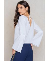 NA-KD | Tied Sleeve Top | Lyst