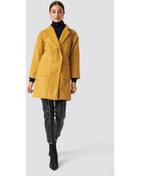 Trendyol - Kasha Coat Mustard - Lyst