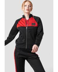 Calvin Klein - Color Black Track Jacket Ck Black/racing Red - Lyst