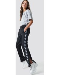 Kappa - Astoria Slim Pants Black/white - Lyst