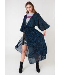 NA-KD Chiffon Coat Dress Multicolour