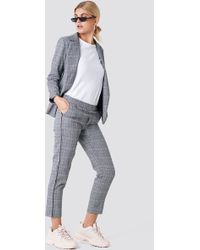 Rut&Circle - Check Piping Pant Grey Comb - Lyst