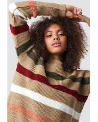 Trendyol - Multi Stripe Knitted Jumper Camel - Lyst