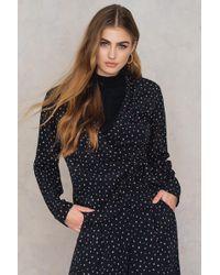 Saint Tropez - Irregular Print Jacket Black - Lyst