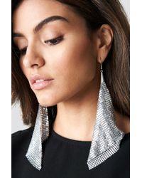 NA-KD - Hanging Metal Mesh Earrings - Lyst