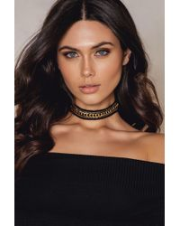 NA-KD - Crochet Choker With Chains - Lyst