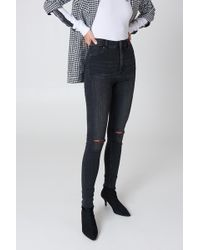 Cheap Monday - High Spray Reused Black Jeans - Lyst