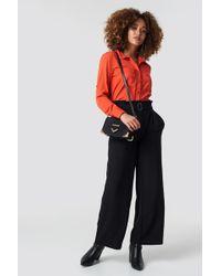 Rut&Circle - Paperwaist Wide Pant Black - Lyst