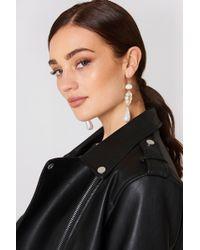 Mango | Pearl-effect Crystal Earrings | Lyst