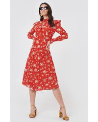 FWSS - Bodil Dress Red Roses Everywhere - Lyst