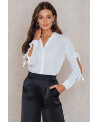 MINKPINK | Tie Sleeve Shirt | Lyst