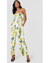 Lucca Couture - Talia Overlay Jumpsuit - Lyst
