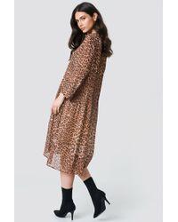 Samsøe & Samsøe - Elm Shirt Dress Leopard - Lyst