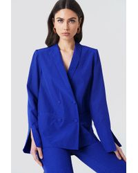 NA-KD - Jacquard Double Breasted Blazer - Lyst