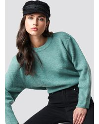 Trendyol - Powder Collar Sweater Mint - Lyst