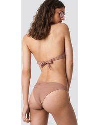NA-KD - Ruched Back Bikini Panty Dusty Dark Pink - Lyst